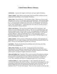 United States History Glossary - Ohio Valley Educational Cooperative