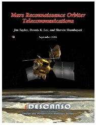 Mars Reconnaissance Orbiter Telecommunications - DESCANSO ...