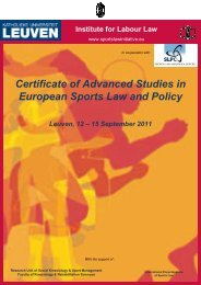 Certificate of Advanced Studies in European Sports Law ... - Slpc.eu