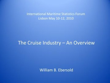The Cruise Industry – An Overview - IMSF