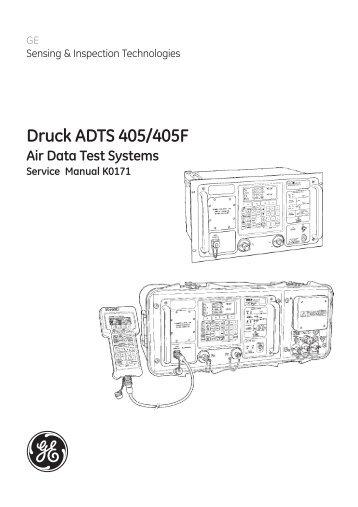 Adts 405 manual