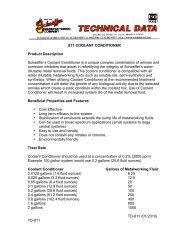 811 COOLANT CONDITIONER Product Description ... - Schaeffer Oil