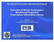 Overview of Illinois Prescription Monitoring Program