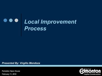 LOCAL IMPROVEMENTS - City of Edmonton