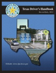 Driver's Handbook - Texas Department of Public Safety