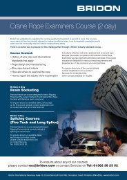 Crane Rope Examiners Course (2 day) - Bridon