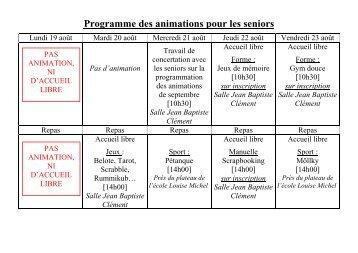 Programme animations seniors août 2013 (pdf - 9,17 ko)