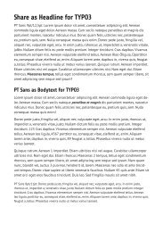 Share as Headline for TYPO3 - TYPO3 Forge