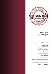 2009 - 2010 Annual Report - Surveyors Board of Queensland