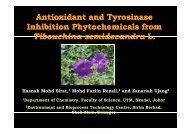 Antioxidant and Tyrosinase y Inhibition Phytochemicals ... - IBD - UTM