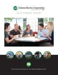 2010 Annual Report - Citizens Electric Corporation