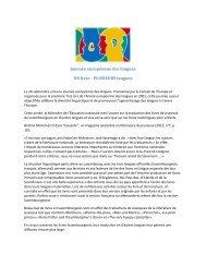 Journée européenne des langues UN livre - PLUSIEURS langues
