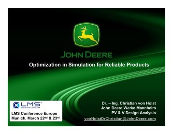 Optimization in Simulation for Reliable Products