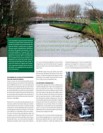 Les nouvelles normes de la qualité environnementale ... - Aquarama