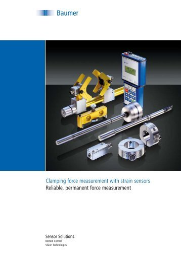 Clamping force measurement with strain sensors Reliable ... - Baumer