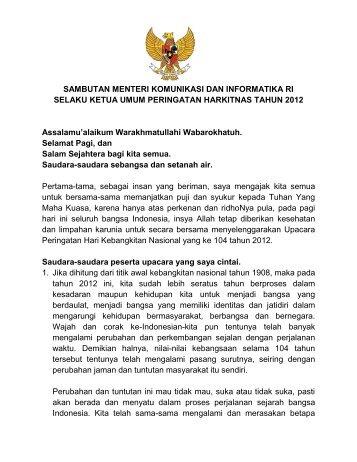 Sambutan Menteri Komunikasi dan Informatika ... - BKD DKI Jakarta