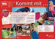 SFun&Action Poolparty am Samstag, 30. Juni 2012, 11–17 Uhr