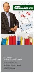 Seminarkalender 2013   2014 PDF - Online Hausverwaltung ...