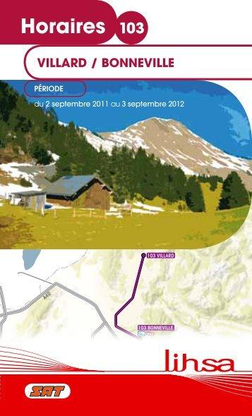 Horaires 103 - Conseil Général de Haute-Savoie