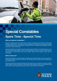 Special Constables - West Yorkshire Police