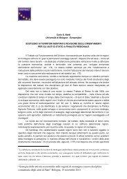 Sostegno ai territori montani e revisione degli ... - Europroject