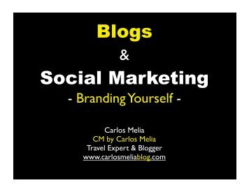 Blogs Social Marketing - Carlos Melia Blog