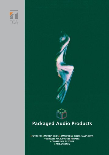 Packaged Audio Products - toa.cz