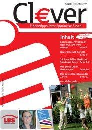 Cl€ver - Ausgabe September 2009 - Sparkasse Essen