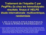 Traitement de l'hépatite C par Peginterferon alfa-2a chez les ... - Afef