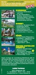 """Bei der """"LECHTAL AKTIV CARD"""" Sommer 2008 (13. 6. bis ca. Mitte ..."""