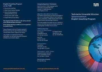 English Coaching Program - Sprachenzentrum TUM - Technische ...