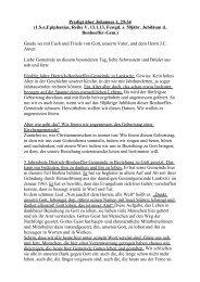 Predigt über Johannes 1, 29-34 - Dietrich-Bonhoeffer