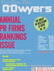PR Firm Rankings - Odwyerpr.com