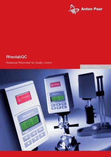 RheolabQC rheometer - MEP Instruments