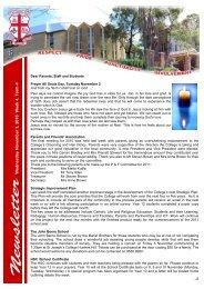 Ex Students Newsletter - Marist College Kogarah
