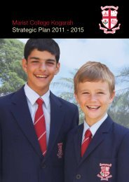 Marist College Kogarah Strategic Plan 2011 - 2015