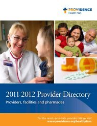 Personal Physicians/Providers - Providence Health Plan