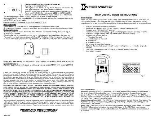 Dt27 Digital Timer Instructions, Outdoor Timer For Lights Instructions