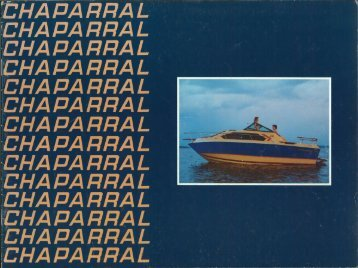 1982 Chaparral Boats Brochure - Chaparral Boats Owners Club