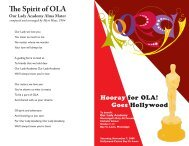 hooray program front and back - Our Lady Academy