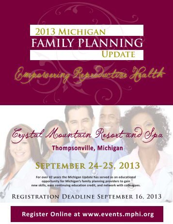 Registration Deadline September 16, 2013 FAMILY PLANNING ...