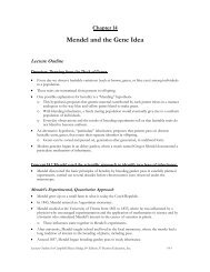 CHAPTER 14 MENDEL AND THE GENE IDEA - Hancock High School