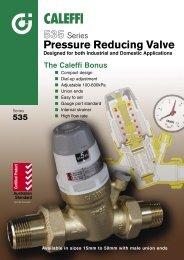 Pressure Reducing Valve - 535 Series Industrial - Pride Industries