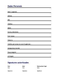 Dades Personals Signatures autoritzades - Campus Virtual - Escola ...