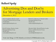 Advertising Dos and Don'ts for Mortgage Lenders and Brokers