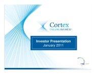 Investor Presentation January 2011 - Cortex Business Solutions Inc ...