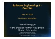 Continuous Integration - Chair for Applied Software Engineering