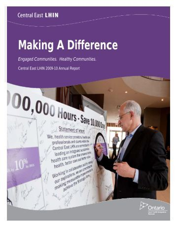 2009-10 Annual Report - Central East Local Health Integration ...
