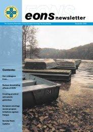 newsletter - the European Oncology Nursing Society