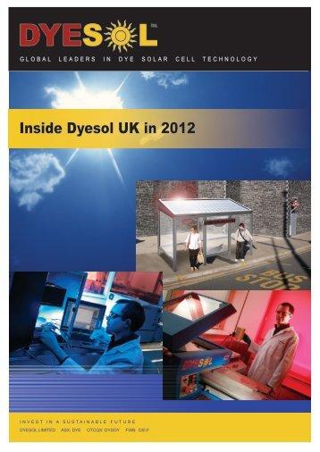 Download booklet here - Inside Dyesol UK in 2012